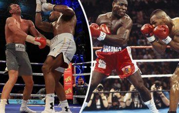 Kush e ka goditjen më të fortë, Frank Bruno apo Anthony Joshua? (VIDEO)