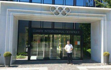 Shaban Tërstena në Muzeun Olimpik