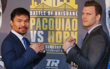 Pacquiao: Horn është një boksier i fortë