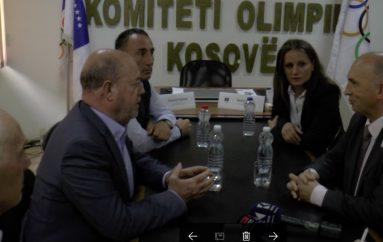Presidenti i KOK-ut, Hasani, priti presidentin e Federatës së Karatesë Botërore