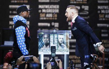 """1 miliardë njerëz do të shohin """"live"""" sfidën Mayweather-McGregor"""