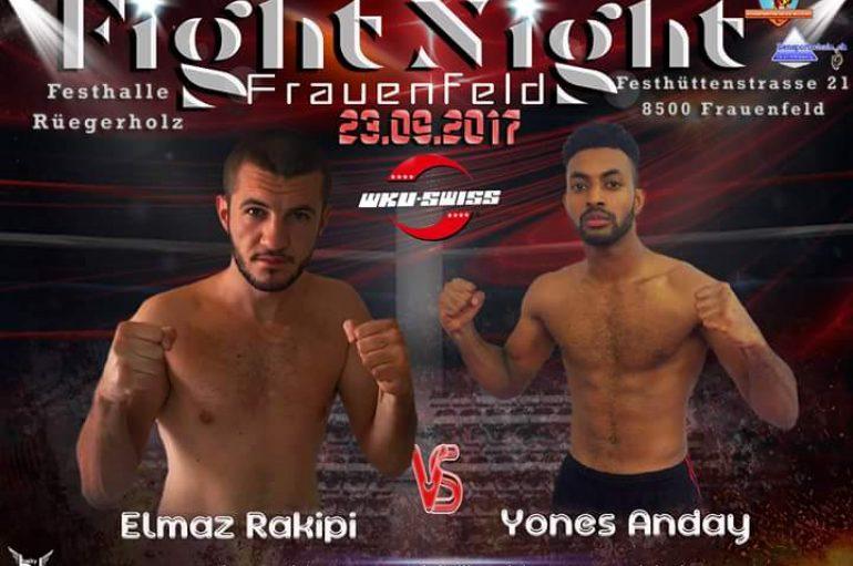 """Elmaz Rakipi në """"Fight Night"""" në Zvicër"""