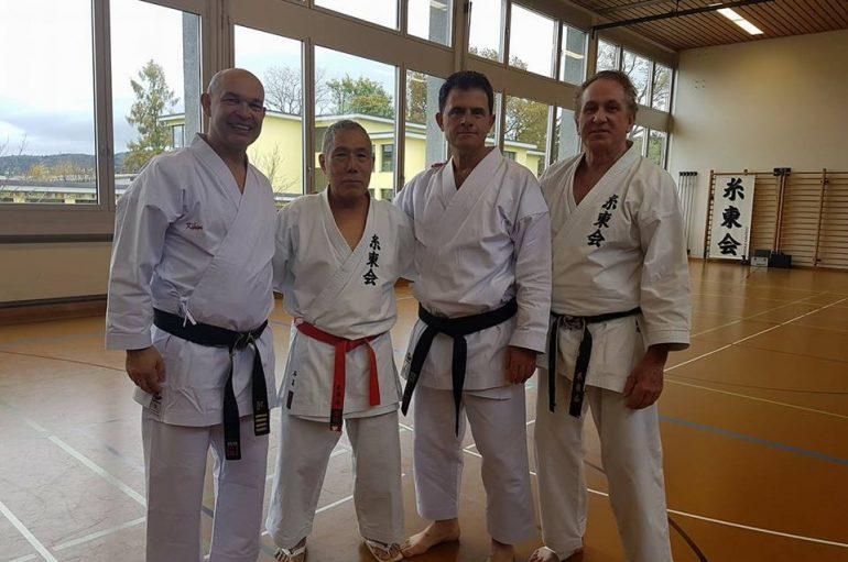 Trajnerët kosovar Raif Musa e Halil Mahalla në seminarin e karatesë në Zvicër
