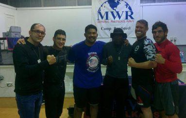 Salihu në mesin e legjendave të UFC, takoi ushtarët për pjesmarje në ICF – Ferizaj