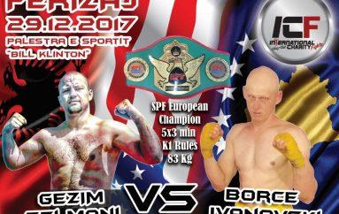 Gezim Selmani kundër Borçe Ivanovskit për titull Evrope – SPF
