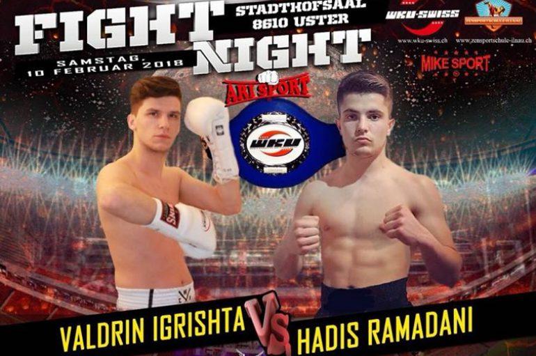 """Duel interesant shqiptar Igrishta kundër Ramadanit në """"Fight Night"""""""
