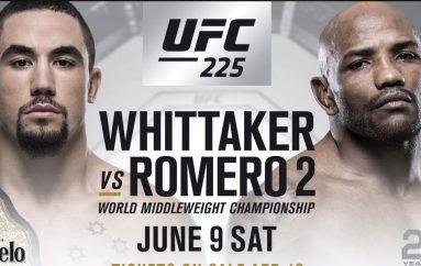 Zyrtare, Romero vs. Whittaker 2 do të zhvillohet në UFC 225