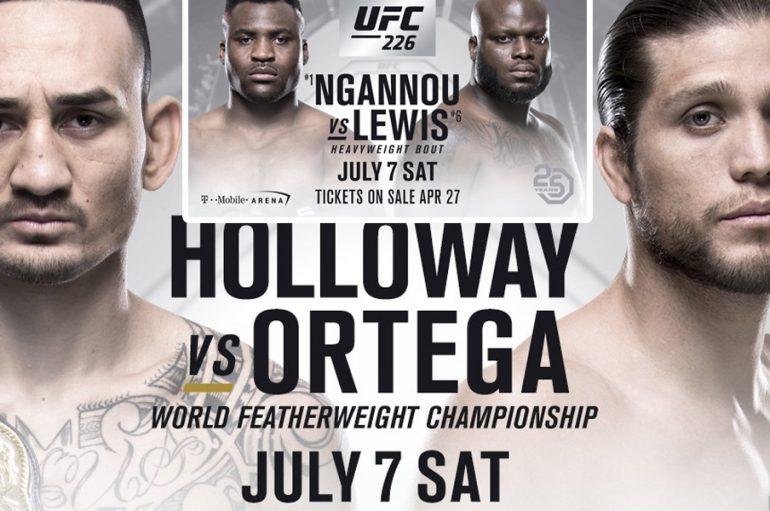 Holloway-Ortega, Ngannou-Lewis vendosen në UFC 226!