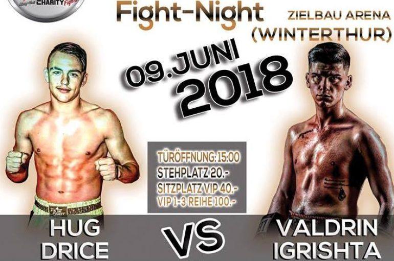 Valdrin Igrishta ndeshet për titull Zvicre më 9 qershor në Wintethur