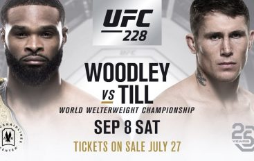 Zyrtare, Woodley vs. Till në UFC 228!
