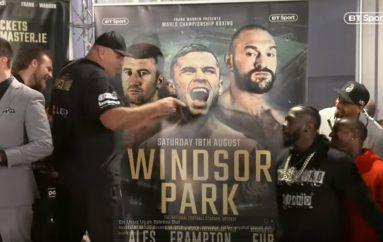 Wilder në Belfast, sherr me Tyson Fury gjatë peshimit të britanikut