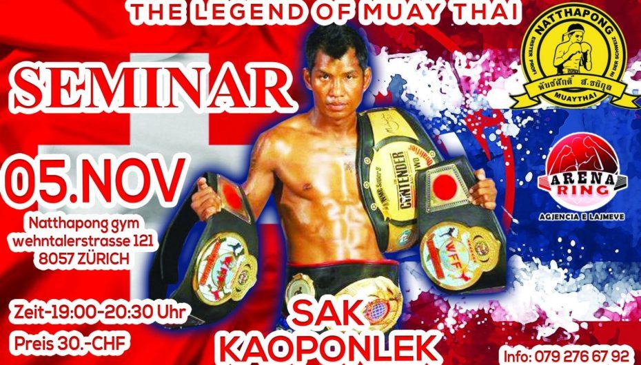 Legjenda tajlandeze e Muay Thai, Sak Kaopolek fton sportistët në Zvicër