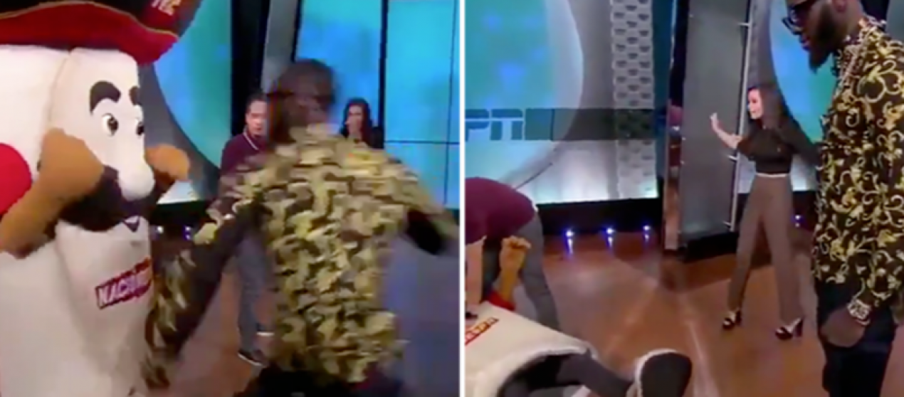 Video / Wilder kërkon falje pasi i thyen nofullën maskotit në emision