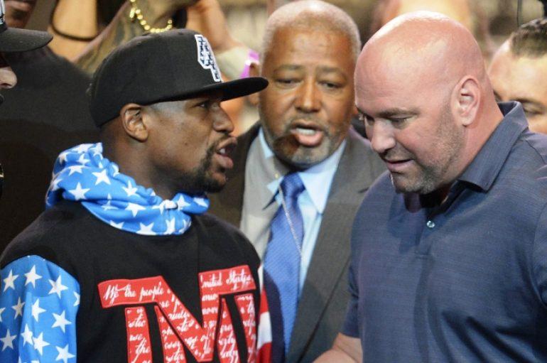 Dana White kërcënon Mayweather: Nëse dëshiron Khabib eja duelo në kafaz