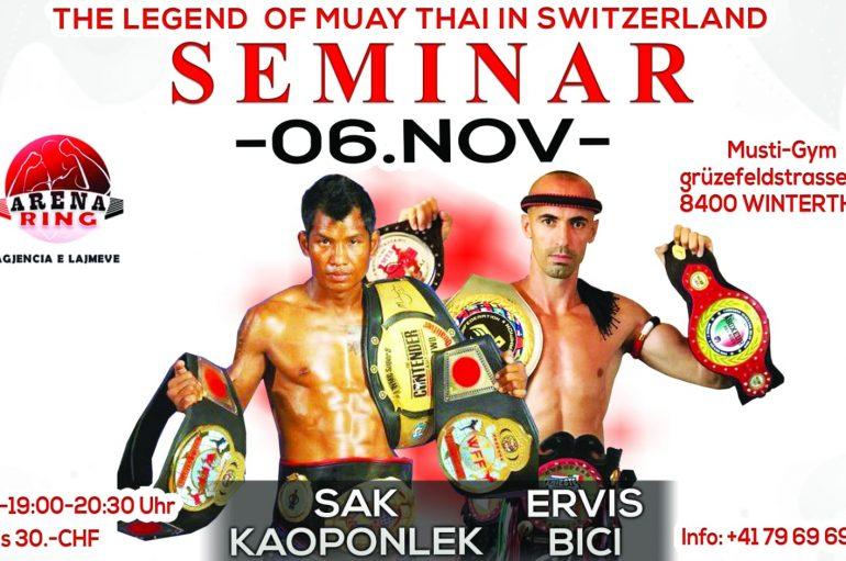 Legjenda tajlandeze në Muay Thai, Sak Kaoponlek seminar madhështor në Zvicër