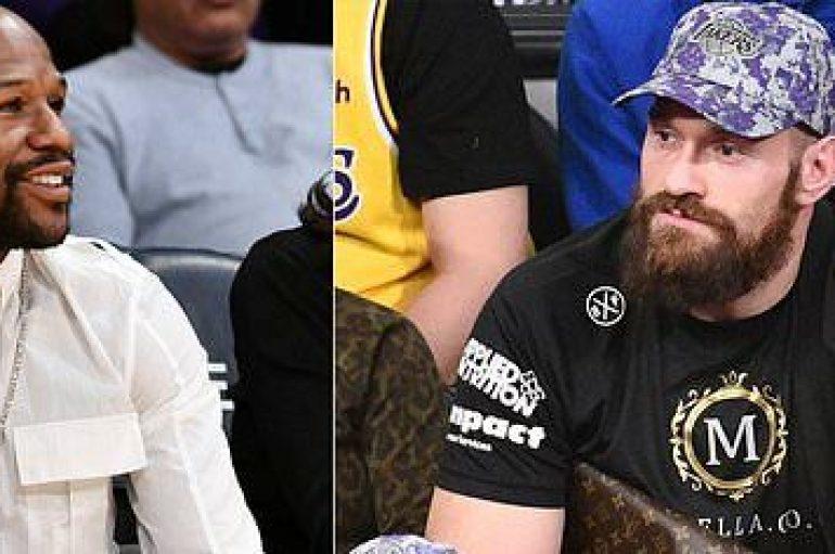 Fury e Mayweather së bashku në stadium, tifo për të njëjtin ekip