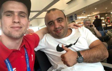 Lama krenar: Emrin e kampionit, Faton Salihu e has në çdo aeroport të botës!
