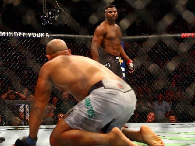 UFC   predatori  Ngannou shkatërron Dos Santos në eventin e Minnesota