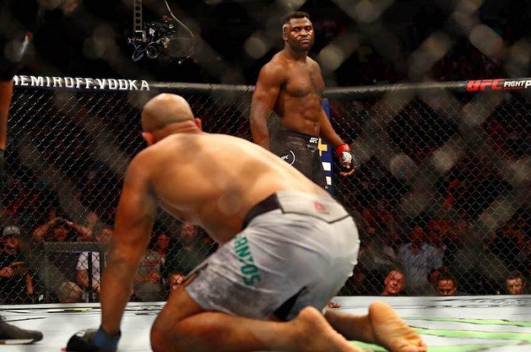 """UFC, """"predatori"""" Ngannou shkatërron Dos Santos në eventin e Minnesota"""