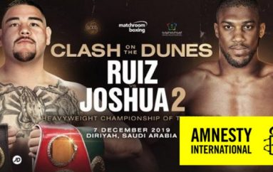 Amnesty International reagon pas lajmit që dueli Joshua – Ruiz do të zhvillohet në Arabinë Saudite