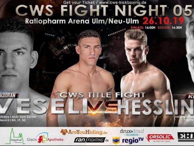 Shkodran Veseli lufton për titull bote  CWS Title Fight