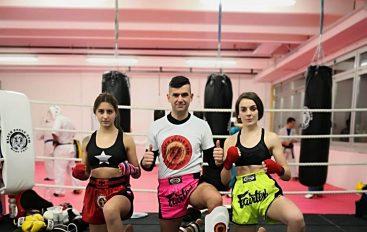 Shqiponjat shqiptare Joana dhe Ermira ndeshje në Itali