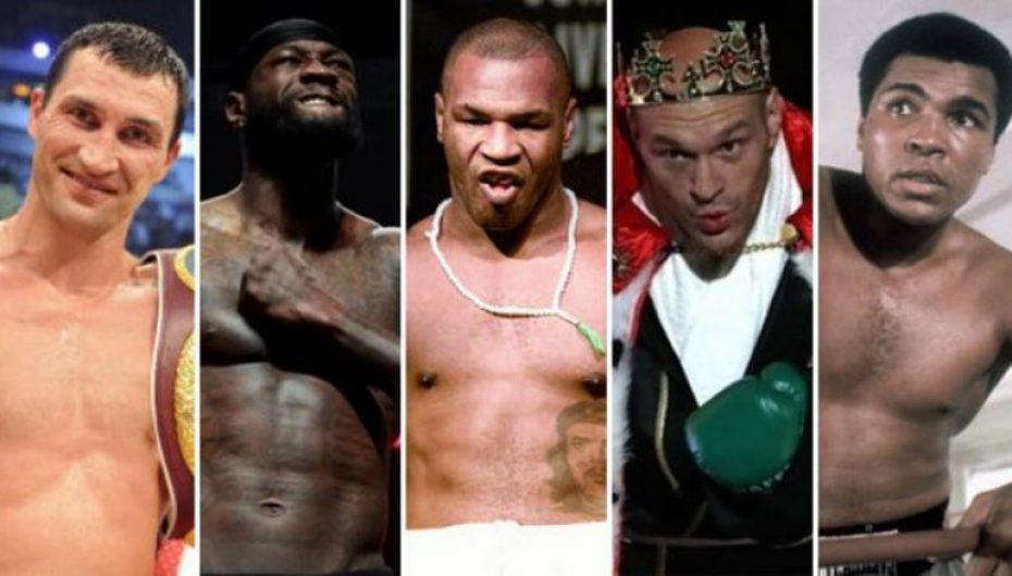 50 boksierët më të mirë në peshat e rënda